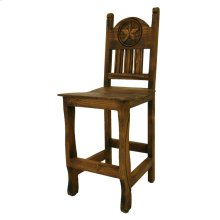 "30"" Barstool W/Wood Seat and Star Medio Finish"
