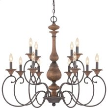 Auburn Chandelier in Rustic Black