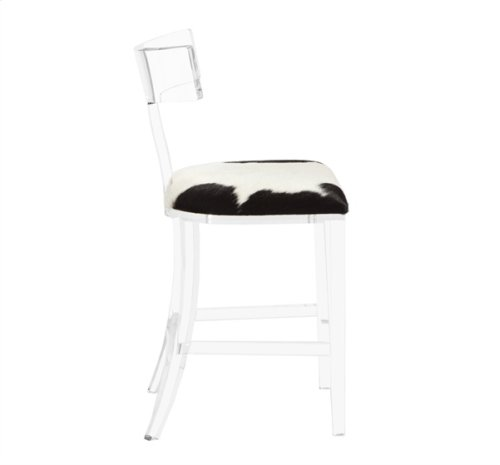 Tristan Klismos Counter Stool - Spotted Hide