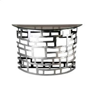 Metal and Glass Demilune Console Table Product Image