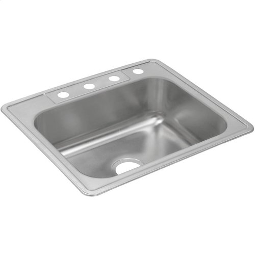 "Dayton Stainless Steel 25"" x 22"" x 8-3/16"", Single Bowl Drop-in Sink"