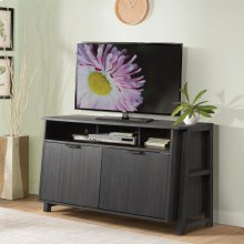 Perspectives - Entertainment Console - Ebonized Acacia Finish