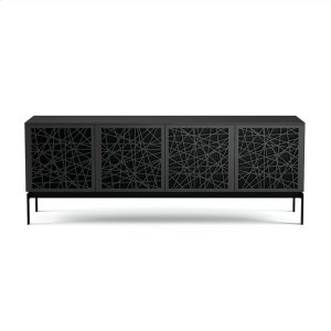 Bdi FurnitureQuad Cabinet With Console Base in Ricochet Doors Charcoal Stained Ash