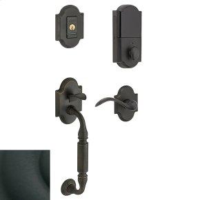 Satin Black Evolved Canterbury Lever Sectional Handleset