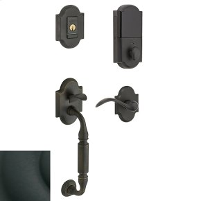 Satin Black Evolved Canterbury Lever Sectional Handleset