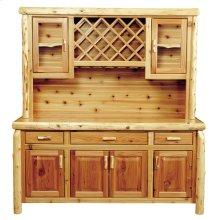 Buffet & Hutch with wine rack 75-inch, Natural Cedar