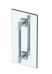"""Sense 12"""" Double Shower Door Pull/ Glass Mount Towel Bar"""