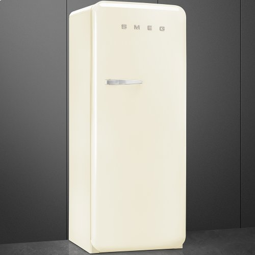 "Approx 24"" 50'S Style Refrigerator with ice compartment, Cream, Right hand hinge"