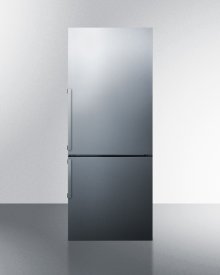 Frost-free Bottom Freezer Refrigerator In Stainless Steel With Factory Installed 8 Lb. Icemaker and Digital Controls