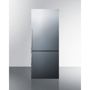 SummitFrost-free Bottom Freezer Refrigerator In Stainless Steel With Factory Installed 8 Lb. Icemaker and Digital Controls