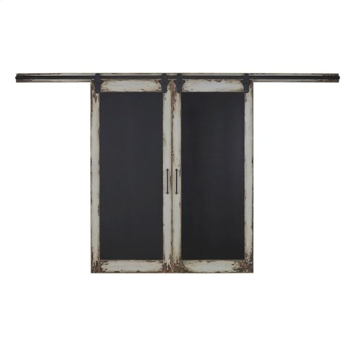 Double Sliding Door Chalkboard