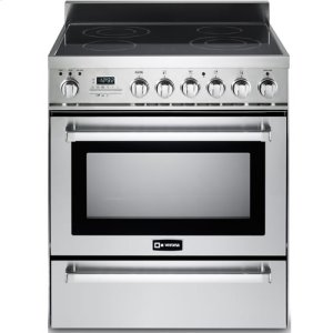 "VeronaStainless Steel 30"" Self-Cleaning Electric Range with Warming Drawer"