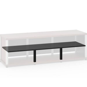 "Salamander DesignsSynergy Triple-Wide Shelf, 8.5"" Black Post"