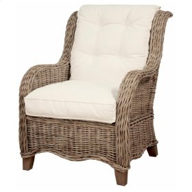 Palm Spring Rattan Arm Chair, Natural Grey