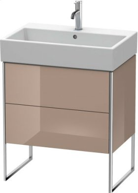 Vanity Unit Floorstanding, Cappuccino High Gloss Lacquer