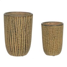 Weathered Bark Vase