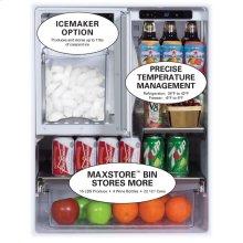 "24"" Outdoor Refrigerator/Freezer with Ice Maker Option - Left Hinge"