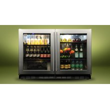 "Kalamazoo 48"" Outdoor Refrigerator (2 Glass Doors)"