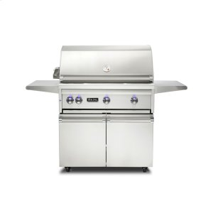 "Viking36""W. Freestanding Grill with ProSear Burner and Rotisserie, Natural Gas"