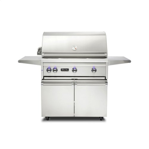 """36""""W. Freestanding Grill with ProSear Burner and Rotisserie, Natural Gas"""