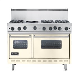 "Biscuit 48"" Open Burner Commercial Depth Range - VGRC (48"" wide, six burners 12"" wide char-grill)"