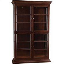 Wood Back 2 Display Cabinet