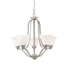 Langford 5 Light Chandelier Brushed Nickel