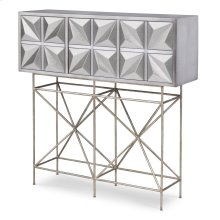 Snowflake Console Table - Silver Leaf