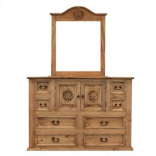 "Dresser : 64"" x 21"" x 45"" Mansion Star Dresser 9 Drawer"