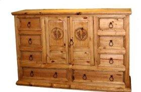 Mansion Dresser W/ Fleur-de-lis