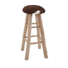 Andros Animal Hide Barstool