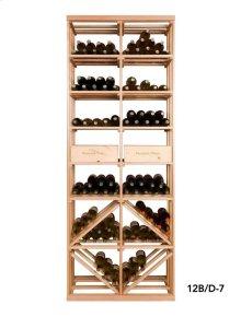 Apex 7' Bottle & Case Diamond Bin Combo Modular Wine Rack