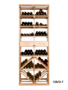 Apex 7' Bottle & Case Diamond Bin Combo Modular Wine Rack