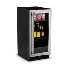 """15"""" Beverage Center - Stainless Frame Glass Door - Left Hinge"""