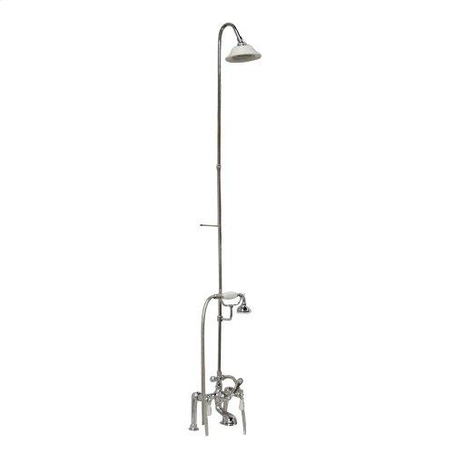 Tub/Shower Converto Unit - Elephant Spout, Riser, Showerhead, Lever Handles - Polished Chrome