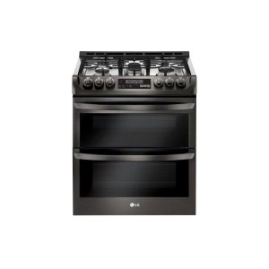 6.9 cu. ft. Smart wi-fi Enabled Gas Double Oven Slide-In Range with ProBake Convection® and EasyClean® - BLACK STAINLESS STEEL