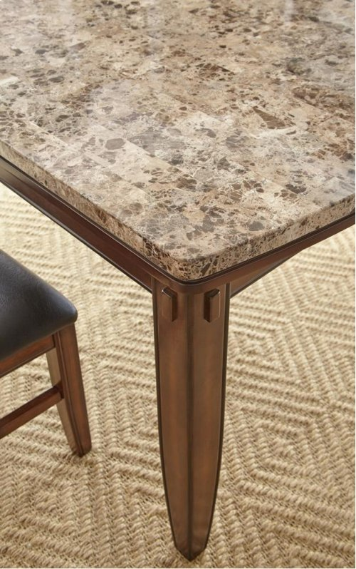 "Eileen Brown Marble Top Table 42"" x 72"" x 31"""