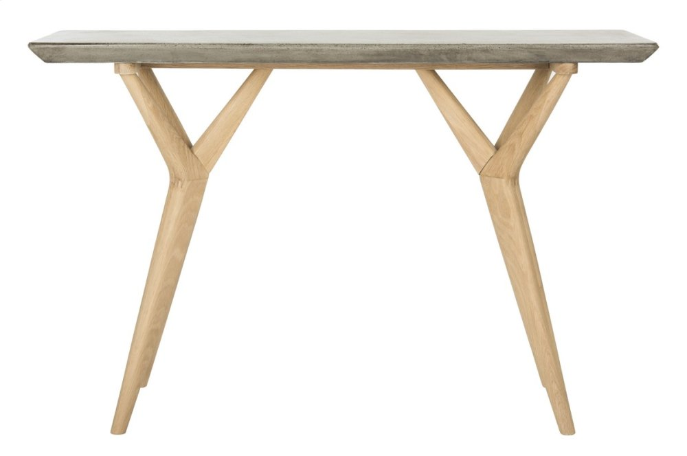 Ragna Indoor/outdoor Modern Concrete 29.92-INCH H Console - Dark Grey