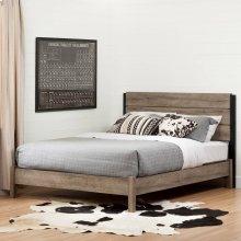 Industrial Platform Bed Set with Headboard - 54''
