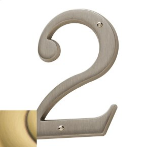 Satin Brass and Brown House Number - 2