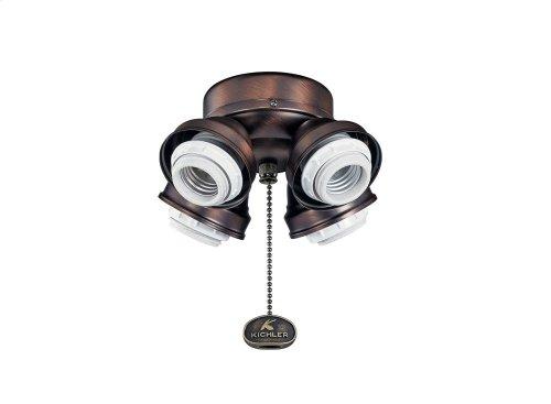 Medium Base Fitter CFL 4 Light Oil Brushed Bronze