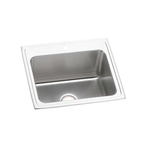 """Elkay Lustertone Classic Stainless Steel 25"""" x 21-1/4"""" x 10-1/8"""", Single Bowl Drop-in Sink"""