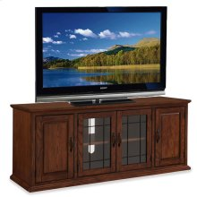 "Oak Leaded Glass 60"" TV Stand #80360"