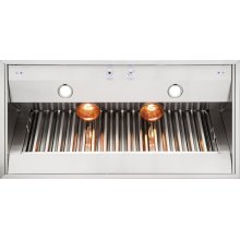 "36"" Wide 18"" High Built-In Custom Ventilator for Wall Hood"