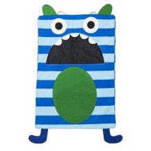 Blue Stripe Monster Laundry Bag