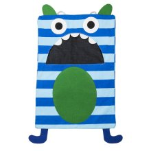 Blue Stripe Monster Laundry Bag