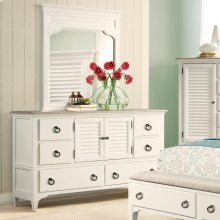 Myra - Door Dresser - Natural/paperwhite Finish