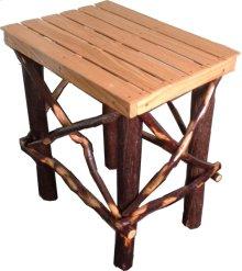 Side Table; Hickory/Oak