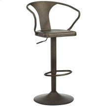 Astra Adjustable Stool in Gunmetal