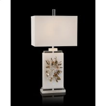 Profusion of Crystal, Alabaster, and Tourmaline Table Lamp